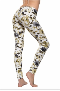 Floral French Terry Legging (Cream Monet Flowers) by Hardtail