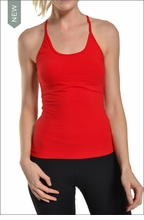 Freestyle Tank w/Bra (Ruby Red) by Hardtail