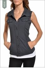 French Terry Vest (Onyx) by Hardtail Forever