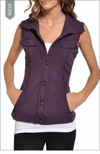 French Terry Vest (Purple Rain) by Hardtail Forever