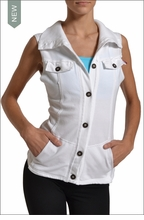 French Terry Vest (White) by Hardtail Forever