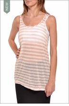 Gold Striped Racer Back Tank  by Hardtail