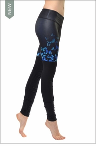 Gypset Goddess Ribbed Legging (Blue Butterfly / Black) by Alo Yoga