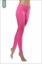 Hard Tail Forever Contour Roll Down Ankle Legging (Light Pink)