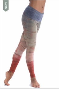 Hard Tail Forever Contour Roll Down Ankle Legging (W-338, Tie-Dye RH44)
