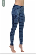 Hard Tail Forever Contour Roll Down Ankle Legging (Washed Denim Tie-Dye)