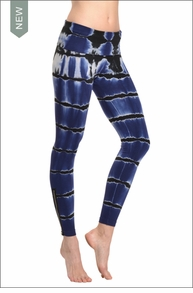Hard Tail Forever Contour Roll Down Rocker Zipper Ankle Legging (Rip-Tide Tie-Dye)