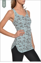 Hardtail Baby Ribbed Racer Back Tank (Submarine Camo)