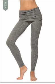 Hardtail Brushed Heather Scrunch Waist Ankle Legging