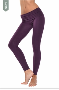 Hardtail Contour Roll Down Ankle Legging (Concord Grape)