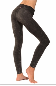 Hardtail Contour Roll Down Ankle Legging (Dark Charcoal Mineral Wash)