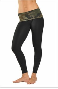 Hardtail Contour Roll Down Ankle Legging (Urban Camo & Black)