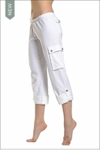 Hardtail Crop Cargo Sweatpants (White)