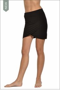 Hardtail Cross Front Skirt (Black)
