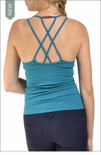 Double Cross Tank with Bra (Gulf Green) by Hardtail