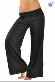 Double Layered Voile Pant (Style VL-29, Black) by Hard Tail Forever