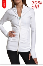 Hardtail Fitted Yoga Jacket (White)