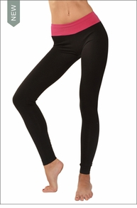 Hardtail Flat Contour Waist Ankle Legging (Punch & Black)