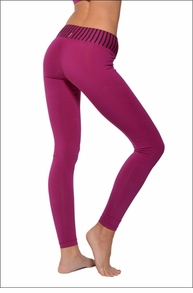 Hardtail Flat Contour Waist Skinny Legging (Black & Berry Stripes)