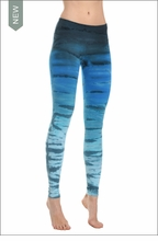Hardtail Flat Waist Ankle Legging (Deep Sea Ombre)