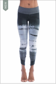 Hardtail Flat Waist Ankle Legging (Style W-452, Tie-Dye DHW1) by Hard Tail Forever