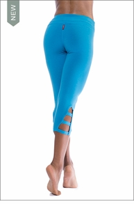 Hardtail Flat Waist Cage Legging (W-586, Bay Blue)
