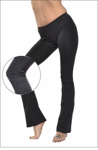 Hardtail Flat Waist Flare Pants (Black)