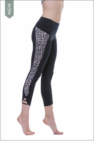 Hardtail Floral Inset Loop Legging (FB-15, Black)