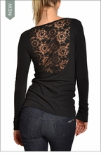 Hardtail Lace Back Long Sleeve