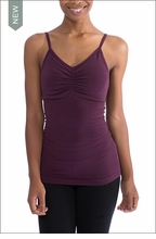 Hardtail Long Shirred V-Neck w/Bra (597, Concord Grape)