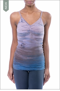 Hardtail Long Shirred V-Neck w/Bra (597, Tie-Dye RH46)
