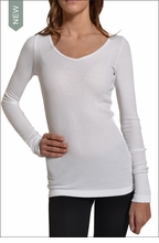 Hardtail Long Sleeve Thermal V-Neck (White)