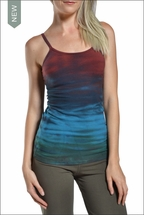 Hardtail : Long spaghetti tank with Bra (Sedona Tie-Dye)