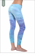Hardtail Low Rise Layered Legging (Beach Sky Tie-Dye)