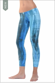 Hardtail Low Rise Layered Legging (Blue Lizard Tie-Dye)
