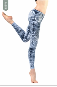 Hardtail Low Rise Layered Legging (Blue/White Neural Web)