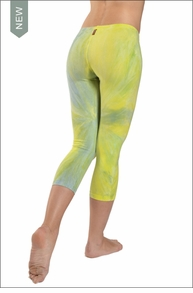 Hardtail Low Rise Layered Legging (Lemon Lime Tie-Dye)