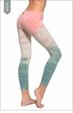 Hardtail Low Rise Layered Legging (Seaside Sunrise Tie-Dye)