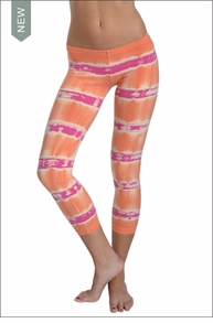 Hardtail Low Rise Layered Legging (Sherbert Electric Lines)