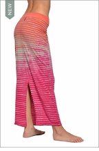 Hardtail Organic Striped Maxi Pencil Skirt (Key West Sunset Tie-Dye)