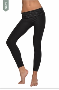 Hardtail Razor Back Roll Down Ankle Legging (Black)