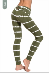 Hardtail Razor Back Roll Down Ankle Legging (Lucky Shamrock Tie-Dye)