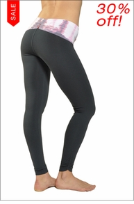 Hardtail Razor Back Side Shirred Ankle Legging (Ladylike Lizard & Pepper)