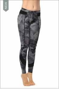 Hardtail Ribbed Inset Side Ankle Legging (Smoke Gray)