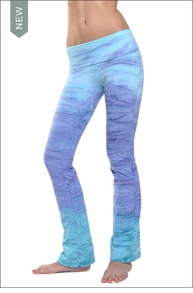 Hardtail Roll Down Boot Leg Pants (Beach Sky Tie-Dye)