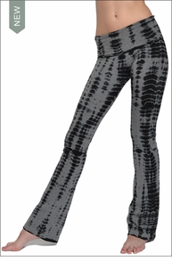 Hardtail Roll Down Boot Leg Pants (Charcoal Gator Tie-Dye)