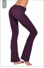 Hardtail Roll Down Boot Leg Pants (Concord Grape)