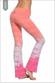 Hardtail Roll Down Boot Leg Pants (Key West Sunset Tie-Dye)