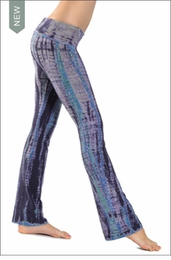 Hardtail Roll Down Boot Leg Pants (Psychedelic Lizard Tie-Dye)
