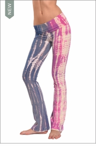 Hardtail Roll Down Boot Leg Pants (Rainbow Lizard Tie-Dye)
